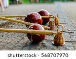 the berimbau  capoeira dancers  ... | Shutterstock . vector #568707970