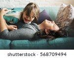 family people feelings... | Shutterstock . vector #568709494