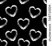 abstract seamless heart pattern.... | Shutterstock .eps vector #568710004