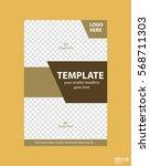 flyer concept brochure template ... | Shutterstock .eps vector #568711303