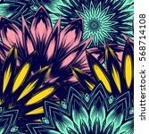 seamless floral background.... | Shutterstock .eps vector #568714108