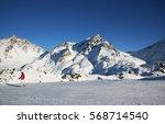 panorama of the austrian ski... | Shutterstock . vector #568714540