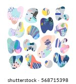 collection of artistic decor... | Shutterstock .eps vector #568715398