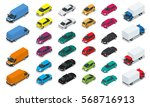 car icons. flat 3d isometric... | Shutterstock .eps vector #568716913