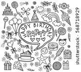 poster for the birthday... | Shutterstock .eps vector #568718929