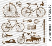 Bicycle And Accessories Vintag...