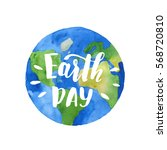 earth day watercolor... | Shutterstock . vector #568720810