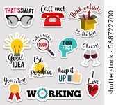 set of flat design social... | Shutterstock .eps vector #568722700