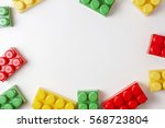 colorful plastic construction... | Shutterstock . vector #568723804