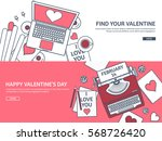 love and heart. lined vector... | Shutterstock .eps vector #568726420