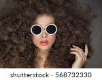 beauty portrait of sensual... | Shutterstock . vector #568732330