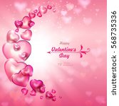 valentine's day. abstract... | Shutterstock .eps vector #568735336