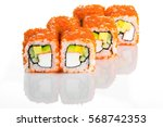 sushi roll with crab meat ...