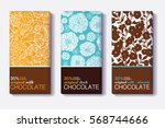vector set of chocolate bar... | Shutterstock .eps vector #568744666