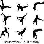 collection silhouette break... | Shutterstock .eps vector #568745089
