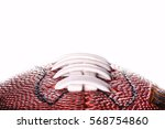 american football ball close... | Shutterstock . vector #568754860