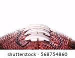 american football ball close... | Shutterstock . vector #568754860