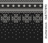 christmas sweater design.... | Shutterstock .eps vector #568757890