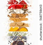 top view of mixed colorful... | Shutterstock . vector #568758643