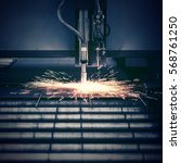industrial plasma machine... | Shutterstock . vector #568761250