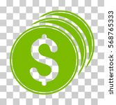 dollar coins icon. vector... | Shutterstock .eps vector #568765333