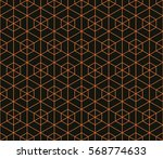 seamless black and orange... | Shutterstock . vector #568774633
