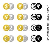 set icon currency converter ... | Shutterstock .eps vector #568775974