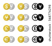 set icon currency converter ... | Shutterstock .eps vector #568776298