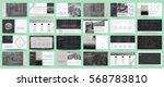 original black and white... | Shutterstock .eps vector #568783810