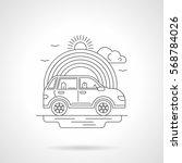 abstract illustration of car...   Shutterstock . vector #568784026