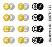 set icon currency converter ... | Shutterstock .eps vector #568784314