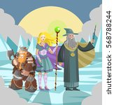 fantasy role party team magic... | Shutterstock .eps vector #568788244