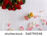 Macaroon Cakes With Bouquet Of...