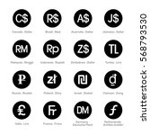 set of icons for currency symbol | Shutterstock .eps vector #568793530