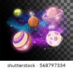 planets colorful vector set... | Shutterstock .eps vector #568797334