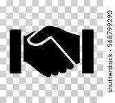 handshake icon. vector... | Shutterstock .eps vector #568799290