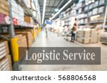 warehouse or storehouse with... | Shutterstock . vector #568806568