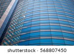 windows of business building in ... | Shutterstock . vector #568807450
