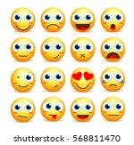 smiley face vector set of... | Shutterstock .eps vector #568811470