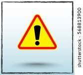 warning attention with... | Shutterstock .eps vector #568813900