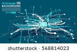 hi tech circuits fantastic... | Shutterstock .eps vector #568814023