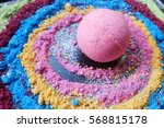 bath bombs  colorful  galaxy... | Shutterstock . vector #568815178