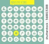 big industry icon set | Shutterstock .eps vector #568815388