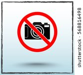 no photographing sign icon ... | Shutterstock .eps vector #568816498