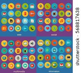 80 detailed color flat icons....