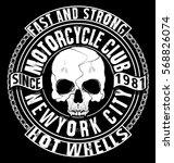 skull t shirt graphic design | Shutterstock . vector #568826074
