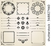 vintage set of classic elements.... | Shutterstock .eps vector #568827460