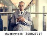 business man break hands hold... | Shutterstock . vector #568829314