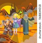 role characters magician elf... | Shutterstock .eps vector #568834018