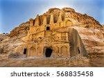 yellow obelisk tomb bab el siq... | Shutterstock . vector #568835458